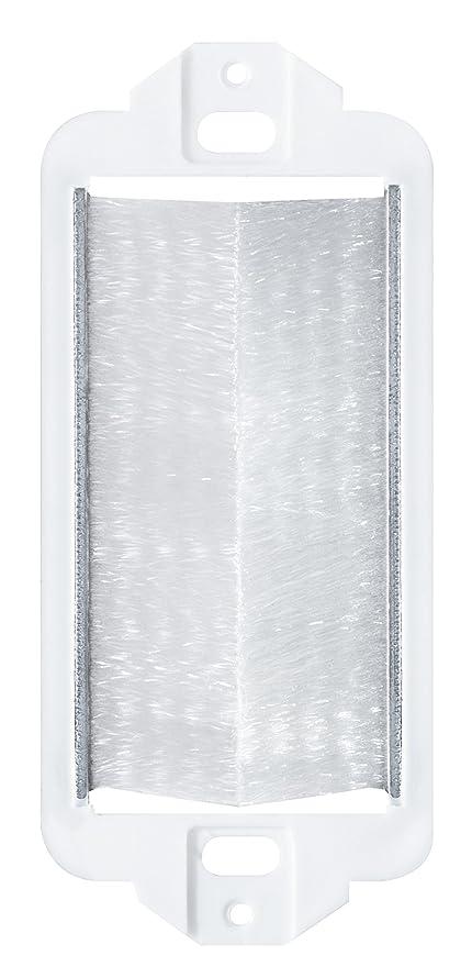 Leviton 41075-DBW Decora Brush Passthrough, White