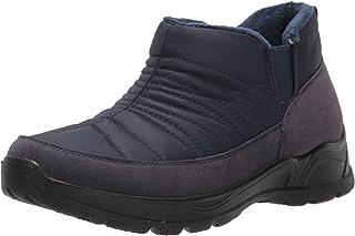 حذاء برقبة طويلة حريمي Jax Snow من Easy Street، أزرق بحري/نايلون/مبطن، 8. 5 عريض