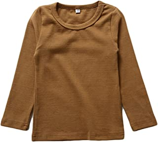 Unisex Girls 100% Cotton Long Sleeve T-Shirt Top Tees
