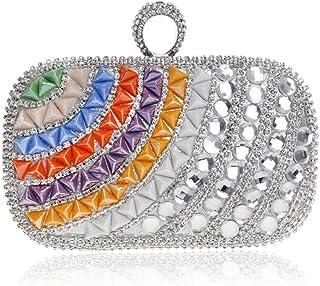 Fine Bag/Womens Crystal Evening Clutch Bag Wedding Purse Bridal Prom Handbag Party Bag Banquet Bag (Color : Multi-Colored, Size : One Size)