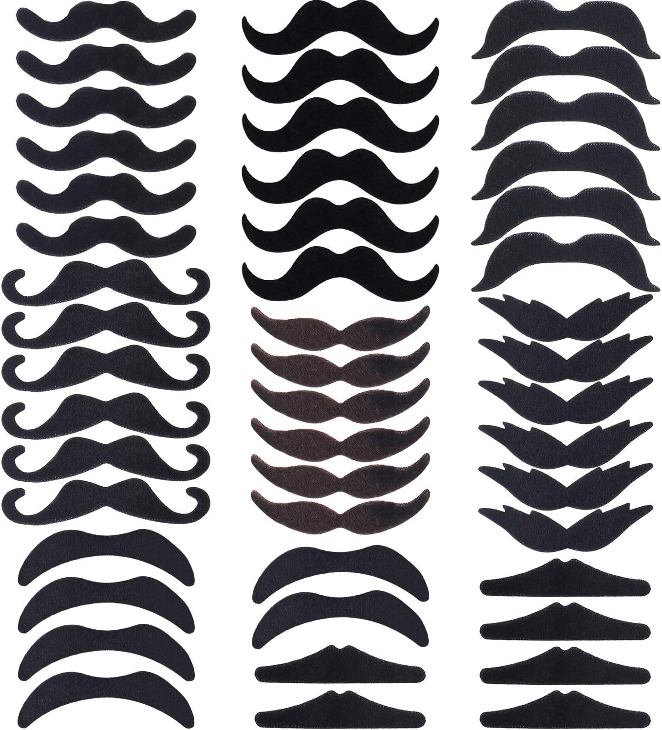 HESTYA 48 Pieces Halloween Fake Financial sales sale Novelty Adhesive Louisville-Jefferson County Mall Mustaches Self
