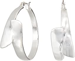 Robert Lee Morris - Shiny Silver Hoop Earrings