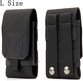 Universal Tactical MOLLE Holster Army Mobile Phone Belt Pouch EDC Security Pack Carry Accessory Kit Pouch Loops Waist Bag Case Compatible iPhone X XS XR 7 8 6s Plus Samsung Galaxy S9 S8 Plus S7 Edge