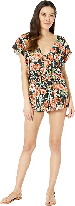 Wild Flower Romper Cover-Up