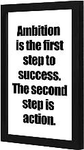 نحن في متجر لوحة نعتبر أن الطموح هو الخطوة الأولى نحو تحقيق النجاح. الخطوة الثانية هي العمل. لوحة فنية جدارية باطار خشبي ب...