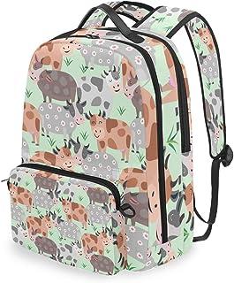 Mochila con bolsa cruzada desmontable, mochila para ordenador de vaca, bolsa de libro para viajes, senderismo, acampada