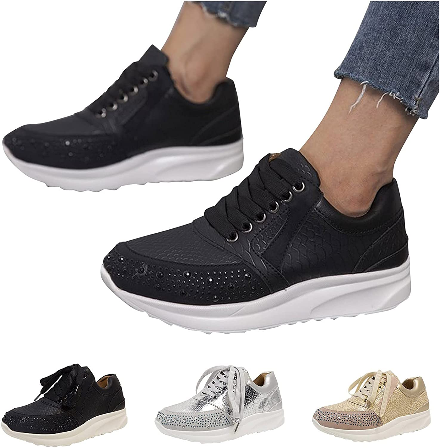 Kinsaiy Shoes for Women Lightweight discount Outdoo Fashion Running Fees free!!