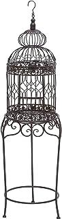Benzara 55122 Victorian Style Bird Cage with Wrought Iron