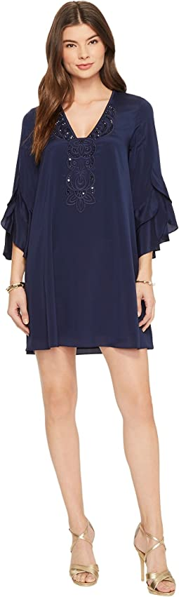 Tatiana Stretch Silk Tunic Dress