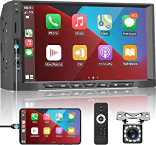 $89 » Apple Carplay Double Din Car Stereo Android Auto Car Radio 7'' Touch Screen Car Multimedia Player with Bluetooth FM Radio ...