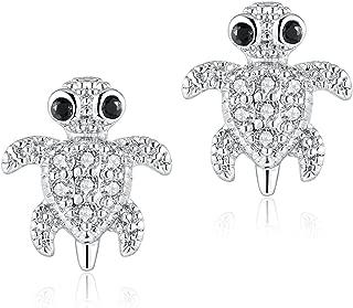 2 Pieces 16g / 18g Surgical Steel Sea Turtle Ear Cartilage Helix Studs Earrings Auricle Piercings