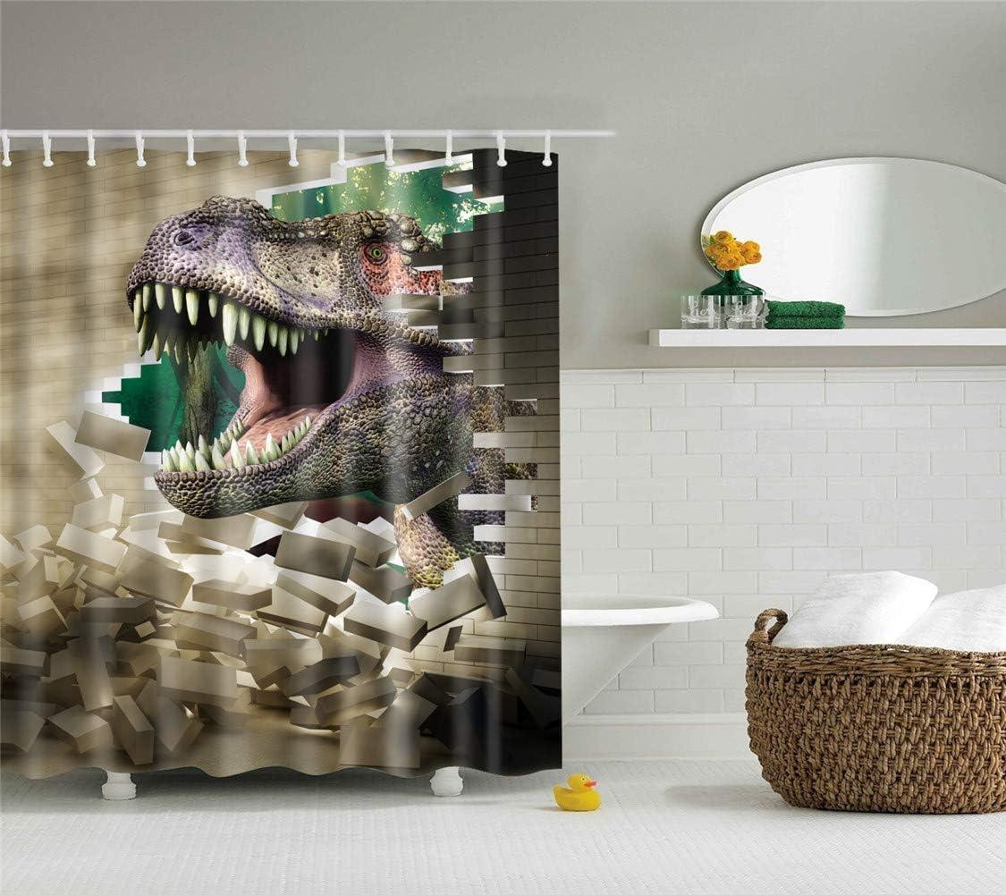 Cortina de Ducha Antimoho 150x180cm,Apertura del Pavo Real Morbuy 3D Impermeable Cortinas Ba/ño de Tela Impresi/ón Digital Antimoho Antibacterial Lavable 12 Anillos
