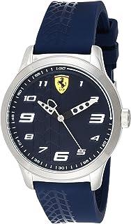 Ferrari Mens Quartz Watch, Analog Display and Rubber Strap
