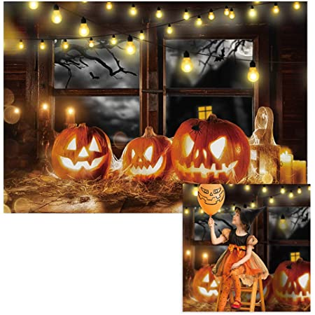 Photography Background Mysterious Forest Halloween Backdrop Old Trees Pumpkin Lanterns Photography Backdrops Kids Night Party Photo Background Photo Background Wall Decorations Banner Birthday