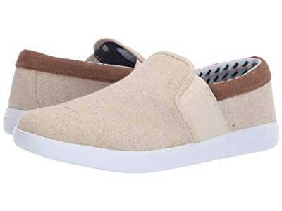 Ben Sherman Parnell Gingham Slip-On (Natural Canvas) Men