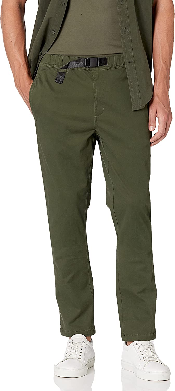 Goodthreads Men's Slim Fit Belted Elastic Waist Pant