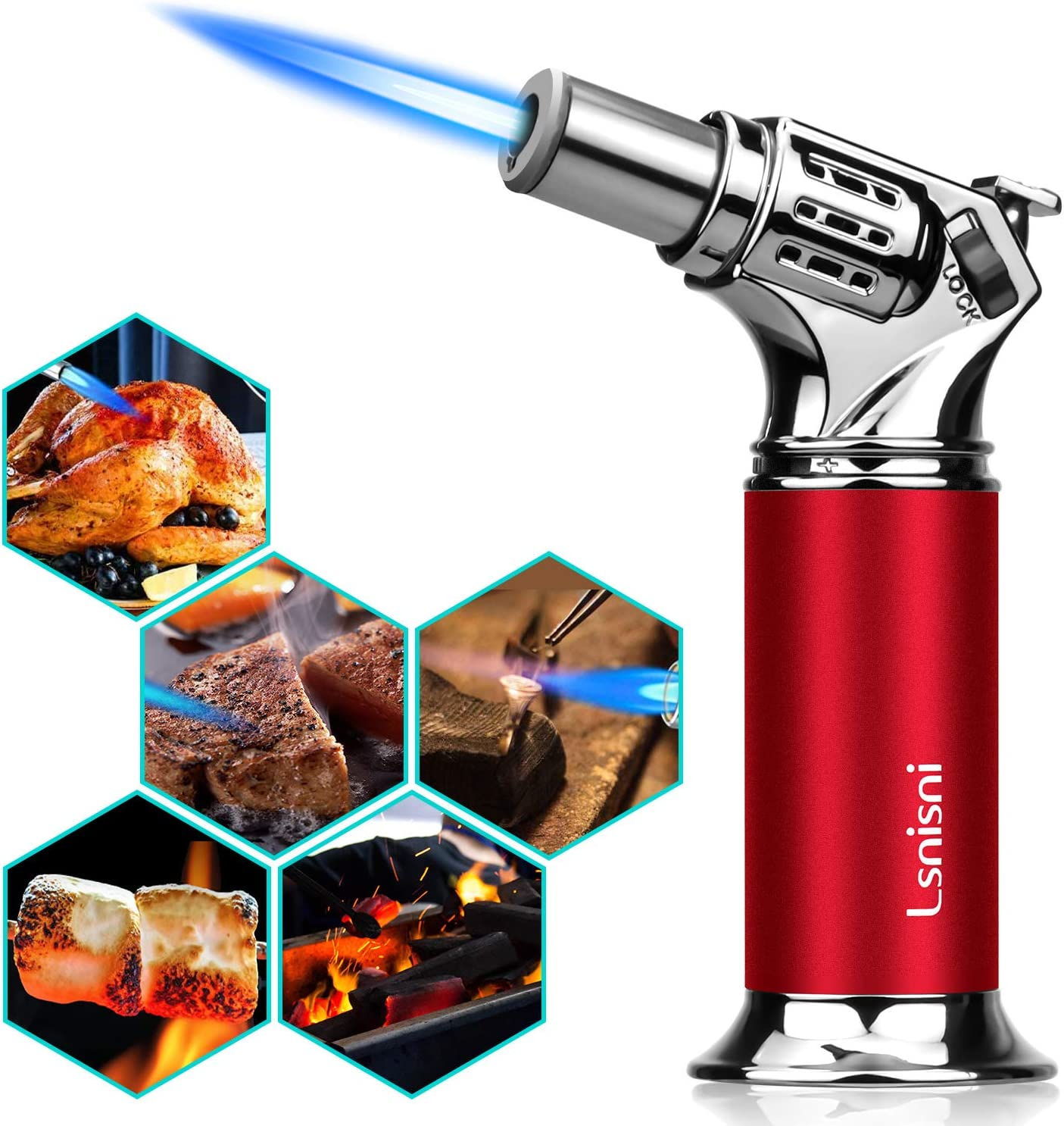 Kitchen Butane Torch Refillable 70% gift OFF Outlet Culinary Lighter f