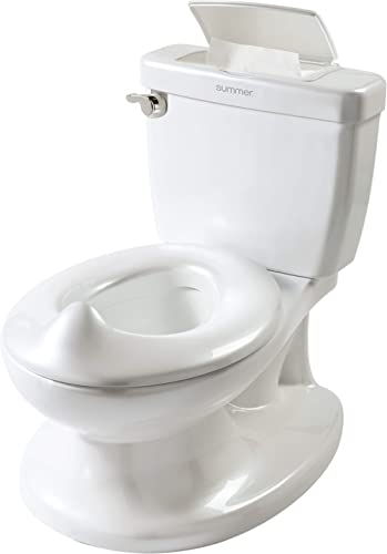 Summer Infant My Size Potty, White – Realistic Potty Training Toilet Looks and Feels Like an Adult Toilet – Easy to E...