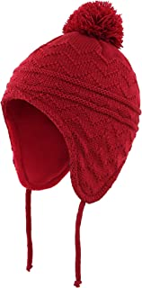 Toddler Boys Girls Fleece Lined Knit Kids Hat with...