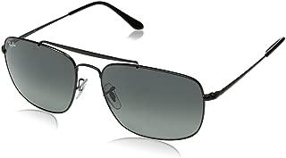 RB3560 The Colonel Square Sunglasses, Black/Polarized Green, 58 mm