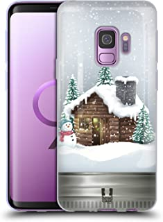 Head Case Designs Cabin Christmas in Jars Soft Gel Case Compatible for Samsung Galaxy S9