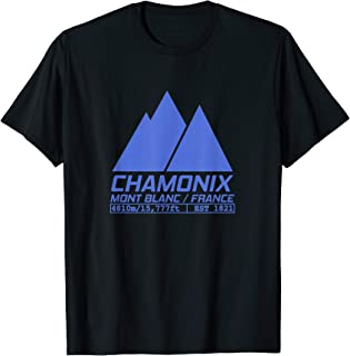 Chamonix Ski Resort T Shirt Skiing Mont Blanc France Tee