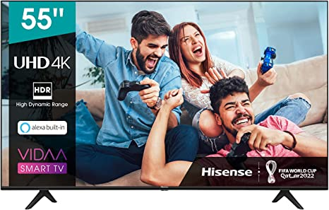 TALLA 55 Pulgadas. Hisense UHD TV 2020 55AE7000F - Smart TV Resolución 4K con Alexa integrada, Precision Colour, escalado UHD con IA, Ultra Dimming, audio DTS Studio Sound, Vidaa U 4.0
