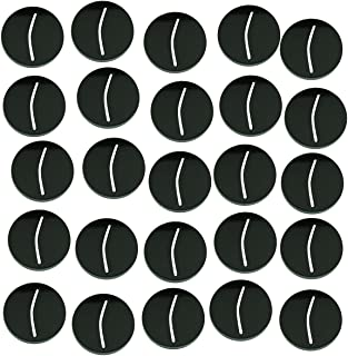 LITKO Paper Miniature Bases, 25mm Circle, 3mm Black (25)