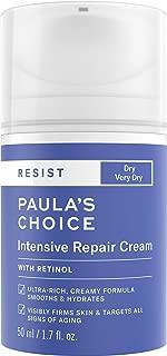Paula's Choice RESIST Intensive Repair Cream with Retinol, Hyaluronic Acid & Jojoba, Anti-Aging Moisturizer for Dry, Winter Skin, 1.7 Ounce