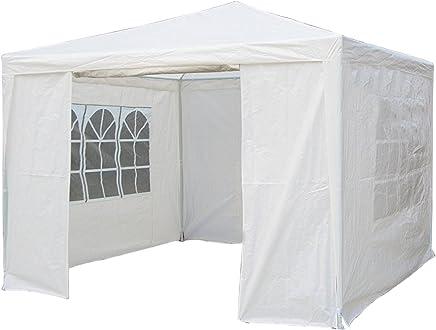 Oypla 3m x 3m White Waterproof Garden Gazebo Marquee Awning Tent