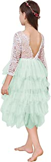 Miss Bei Lace Back Flower Girl Dress,Kids Cute Backless Dress Toddler Party Tulle Tutu Dresses for Baby Girls Dress !