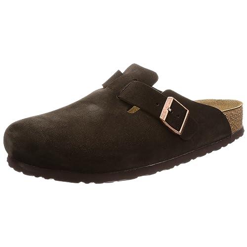 e8c90ec14344 Birkenstock Unisex Boston Soft Footbed Leather Clog