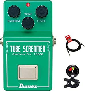 Ibanez TS808 Original Tube Screamer Overdrive Distortion Guitar Effects Pedal with Tone Overdrive and Level Controls with ...