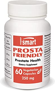 Supersmart - Prosta-Friendly 250 mg - Cranberry Pills That Help with Prosate & Urinary Health | Non-GMO & Gluten Free - 60...