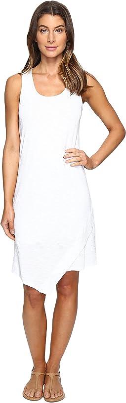 Mod-o-doc - Textured Slub Stripe Tank Dress
