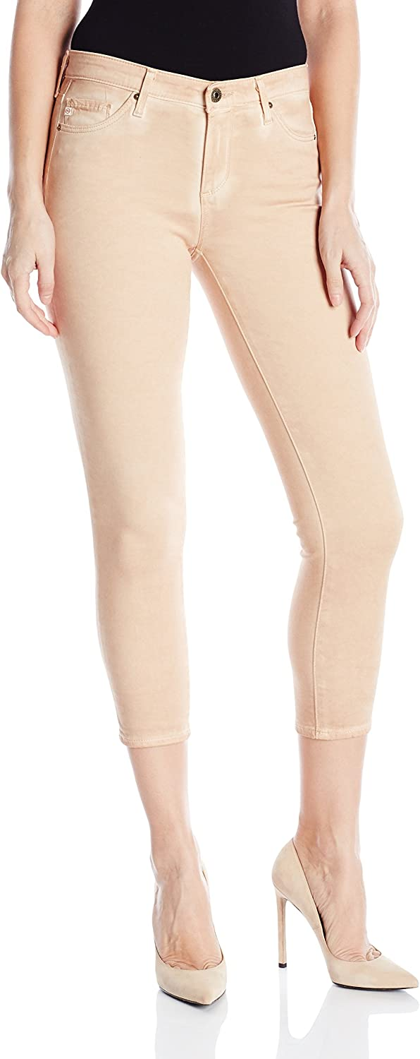 AG Adriano goldschmied Womens Prima Crop Mid Rise Cigarette Jean in Sea Soaked Sandalwood Jeans