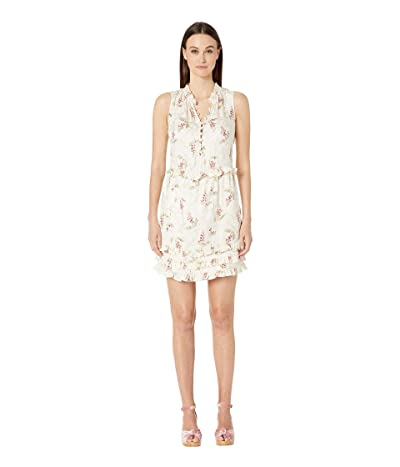 Rebecca Taylor Sleeveless Ivie Ruffle Dress (Cream Combo) Women