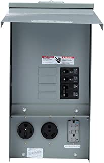 Siemens TL137US Talon Temporary Power Outlet Panel with a 20, 30, and 50-Amp Receptacle Installed, Unmetered (Renewed)