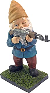 Military Garden Gnome with an AK47 | Funny Army Statue, Perfect for Gun Lovers, Military Collectors, Combat Enthusiasts & ...