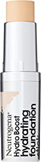 Neutrogena Hydro Boost Hydrating Foundation Stick with Hyaluronic Acid, Oil-Free & Non-Comedogenic Moisturizing Makeup for Smooth Coverage & Radiant-Looking Skin, Classic Ivory, 0.29 oz