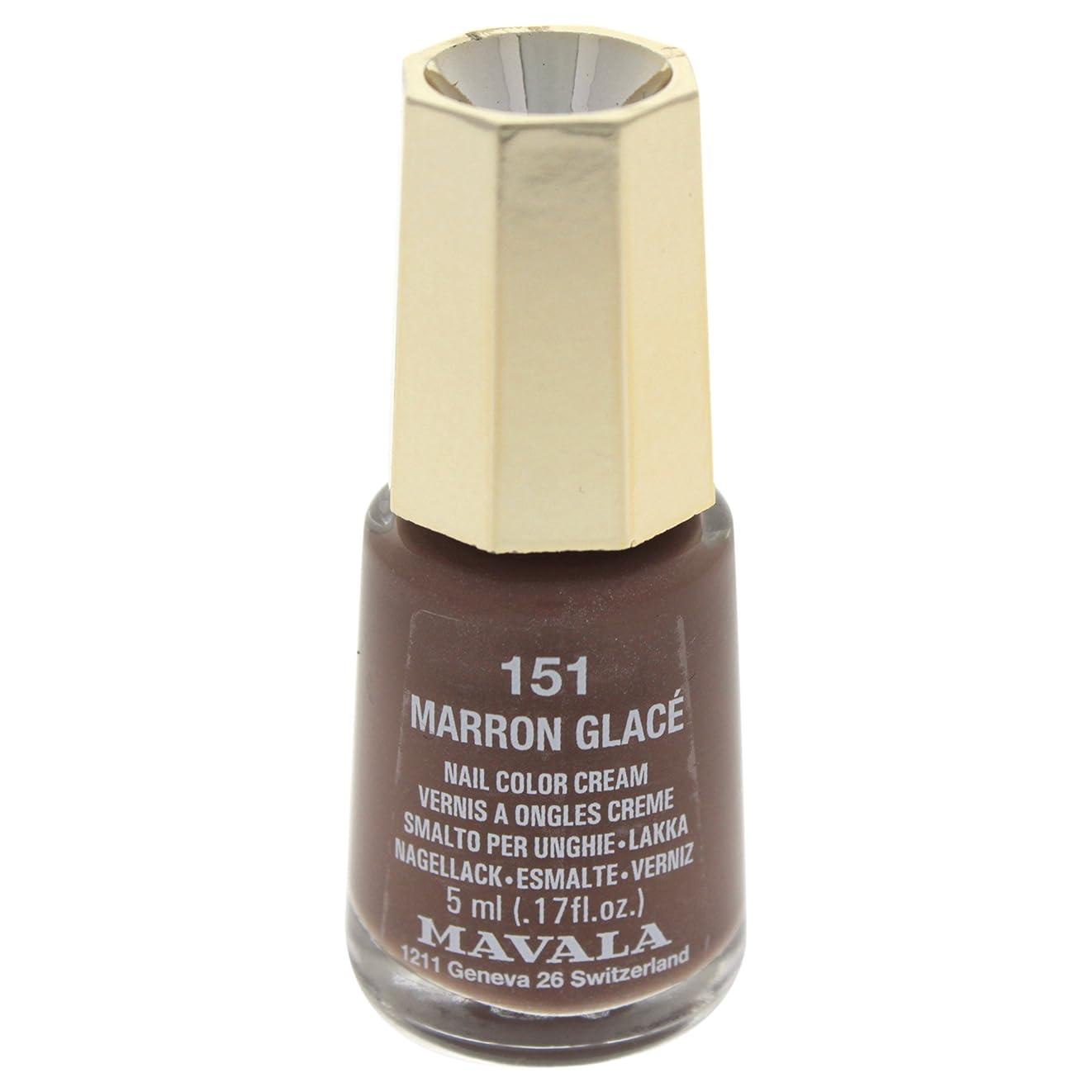 移植見る人軽減するMAVALA マヴァラ ネイルカラー 151 マロングラッセ
