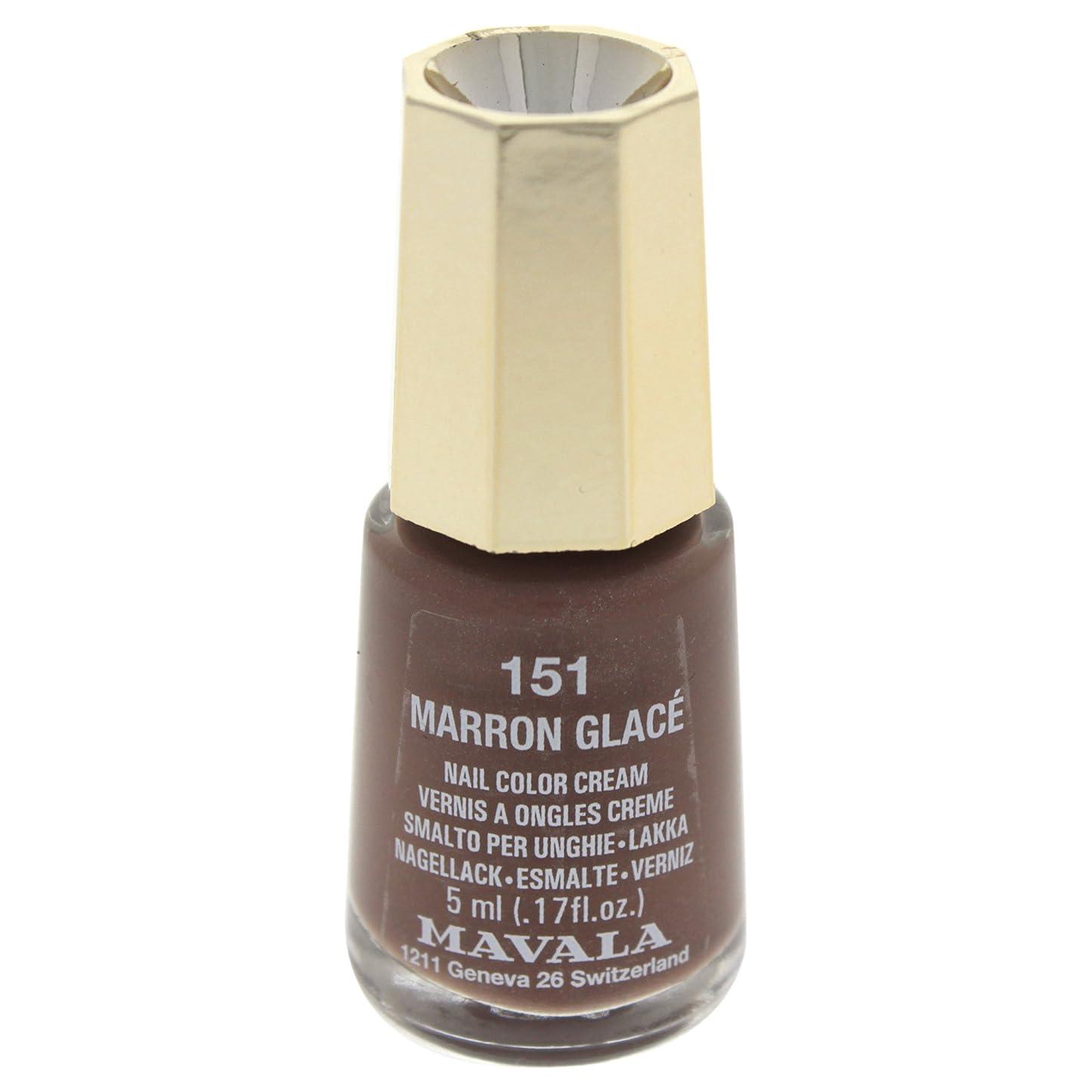 実験室趣味粘り強いMAVALA マヴァラ ネイルカラー 151 マロングラッセ