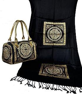 حقيبة يد للسيدات أرابيسك معها شال