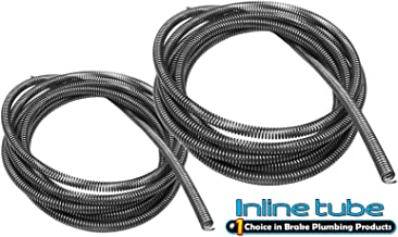 3/16 1/4 Brake Line Tube Spring Wrap Armor Guard Cover Tubing Stainless 8 Ft Each (L-3-7)