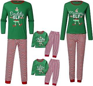 LANSKIRT Pijama de Navidad Familiar Conjunto de Pijamas A Juego de Familia de Navideño Rayas para Papá, Mamá, Niños, Bebé, Ropa de Dormir, Ropa Madre e Hija