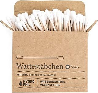 Hydrophil Trwałe patyczki higieniczne z bambusa i bawełny (100 sztuk)