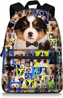 Animal Backpack - BullDog/Husky/Border Collie Designs Canvas Bag