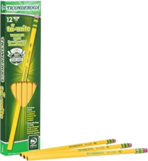 Ticonderoga Tri-Write Triangular Pencils, Wood-Cased #2 HB Soft, Yellow, 12-Pack (13856)