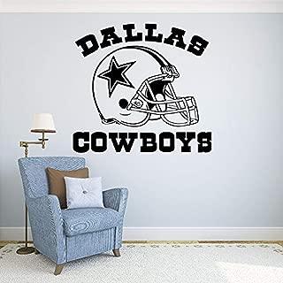 Sport Wall Vinyl Decal - Dallas Cowboys Vinyl Decor - Football Logo Sport Interior - Vinyl Decor Sticker Home Art Print TT9607