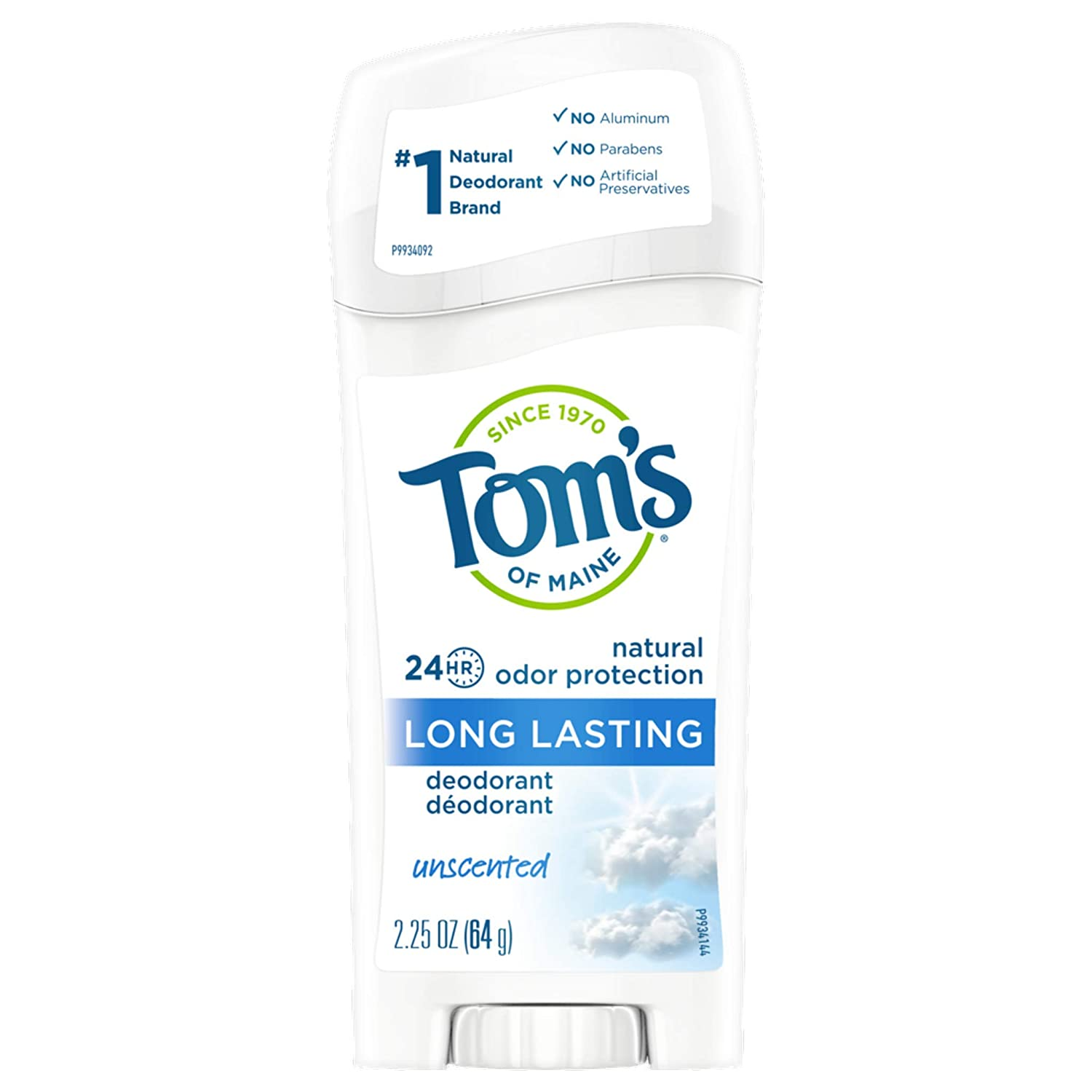 1 year warranty Tom's of Maine Long-Lasting Natural Deodorant In stock Aluminum-Free for